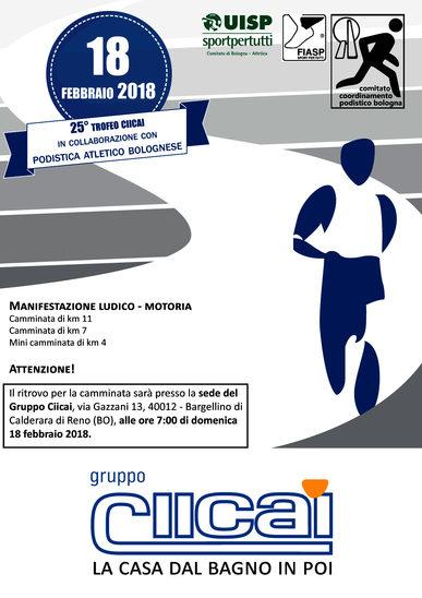 Volantino Trofeo Ciicai 2018